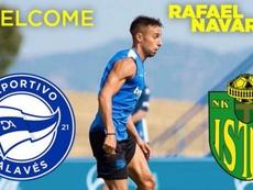Rafa Navarro se marcha a Croacia. Captura/Twitter/NKIstra1961Pula
