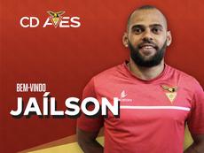 Jaílson de Lima é o novo reforço do Desportivo das Aves. Twitter/CD Aves