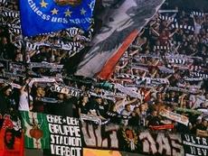 El Eintracht de Frankfurt fue sancionado por la UEFA. Twitter/eintracht_esp