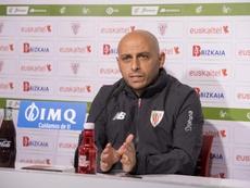 Villacampa analizó la previa del choque ante el CD Tacón. AthleticClub