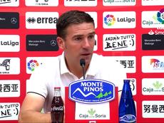 Luis Carrión no duda de sus jugadores. Captura/YouTube/CDNumancia