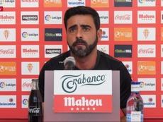 David Gallego habló en rueda de prensa. Captura/YouTube/RealSportingdeeGijón