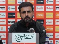 David Gallego, orgulloso de sus jugadores. Captura/RealSportingdeGijón