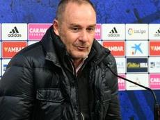 Víctor Fernández espera lograr los tres puntos. Twitter/RealZaragoza