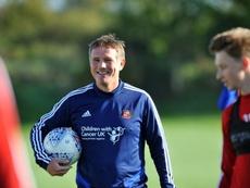 Parkinson es el nuevo entrenador del Sunderland y ya ha comenzado a entrenar. Twitter/SunderlandAFC
