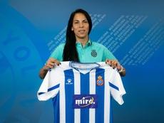 Fue elegida mejor jugadora de Argentina en el pasado Mundial. Twitter/RCDEspanyolFemení