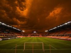 El partido se retrasó por los malas condiciones meteorológicas. HoustonDynamo