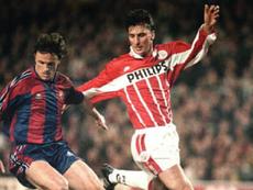 Luc Nilis, una de las leyendas del PSV. AFP