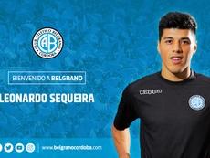 Leonardo Sequeira, nuevo jugador de Belgrano. Belgrano