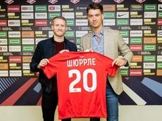 Schürrle (eso es lo que pone en cirílico en su camiseta) jugará en Rusia esta temporada. Spartak