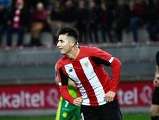 Morcillo adelantó al Athletic en el primer tiempo. Twitter/AthleticClub