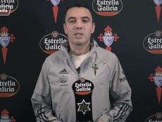Iago Aspas, mejor jugador de diciembre. Captura/Twitter/RCCelta