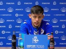 Montero cree que está madurando en el Dépor. Twitter/RCDeportivo