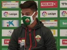 Emiliano Rugoni, presentado como nuevo jugador del Elche. Captura/YouTube/ElcheClubdeFútbol
