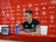 Álex López analizó al Cádiz, próximo rival del Lugo. Twitter/CDeportivoLugo