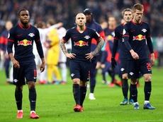 O RB Leipzig quer prorrogar o empréstimo de Angeliño. DieRotenBullen