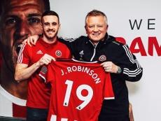 Jack Robinson firmó hasta 2022. Twitter/SheffieldUnited