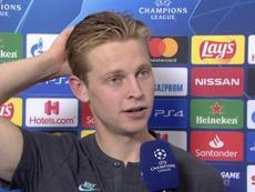 De Jong analizó su partido contra el Nápoles. UEFA