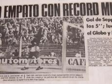 El gol más rápido del fútbol argentino cumple 40 años. Captura/Infobae