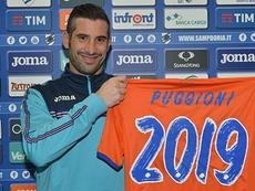 Puggioni será de la Sampdoria hasta, sí, 2019. Sampdoria