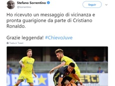 Stefano Sorrentino a reçu un message de CR7. Twitter/Sorrentino