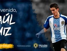 El jugador alicantino ya ha entrenado con su nuevo equipo. Twitter/HérculesCFOficial