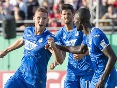 El Hoffenheim rozó la debacle en la Pokal. Twitter/tsghoffenheim