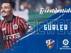 Gürler firma por cuatro temporadas. Captura/SDHuesca