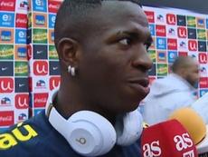 Vinicius est fier d'être au Real. Capture/ASTV