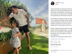Xavi celebró la Diada de Cataluña. Instagram/Xavi