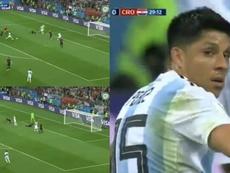 Enzo Pérez était sur le point d'ouvrir le score. SeleccionArgentina