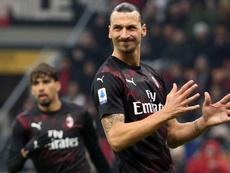 Ibrahimovic todavía no tiene claro su futuro en el Milan. EFE