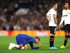 La lesión de Mount no es tan grave. Twitter/ChelseaFC_Sp