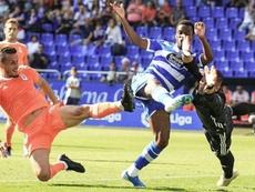 Koné participó en el gol del Dépor ante el Racing. Twitter/RCDeportivo