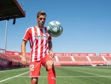 Oliván tuvo sus primeros minutos con el Girona. Twitter/GironaFC