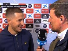 Hazard voltou após 16 jogos lesionado. Captura/#VamosdeMovistar+