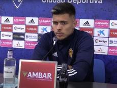 El Zaragoza se enfrenta a Las Palmas en el próximo partido. Captura/RealZaragozaSAD