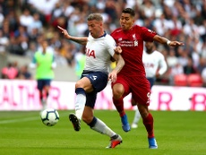 Alderweireld plays without a badge. Twitter/TottenhamHotspur
