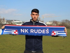 Rafa Páez jugará como cedido hasta final de temporada. Twitter/NKRudes