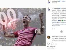 Ríos Reina celebra sus 100 partidos con la Ponferradina. Captura/j.a.riosreina