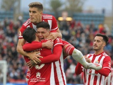 Darwin Núñez valoró la llegada de Guti al club. Twitter/UDAlmería