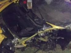 Bulka crashed a Lamborghini. Twitter/Directfutbolec