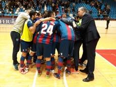 Maxi Rescia firma el triunfo del Levante y el Zaragoza sale del descenso. Twitter/LNFS