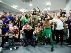 Ludogorets de Rasgrad é novamente campeão da Bulgária. Twitter/Ludogorets1945