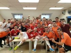El Real Murcia golea. Twitter/realmurciacfsad