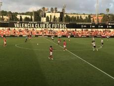 Mestalla y Nàstic empataron a uno su duelo. Twitter/NASTICTARRAGONA