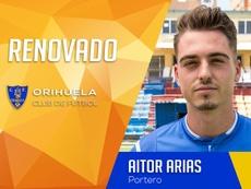 Aitor Arias continuará la próxima temporada en Orihuela. OrihuelaCF