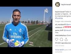 Navas explicó los beneficios de entrenar con pelotas de tenis. Instagram/keylornavas1