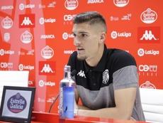 Ander Cantero aseguró que las victorias llegarán para el Lugo. Twitter/CDeportivoLugo