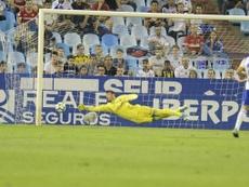 Cristian Álvarez tuvo un promedio de 1,3 goles por partido el pasado curso. Twitter/RealZaragoza